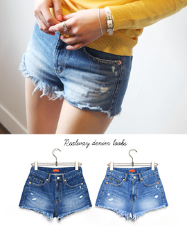 [CB0318] TAKENHOTPANTS <br> Light blue / Deep blue