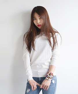 [CT0419] SMOOTHIESIMPLEKNIT <br> White / Yellow / Pink / Gray / Navy